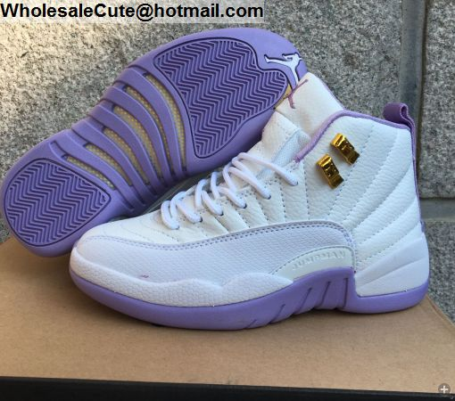 cheaper 2ddd8 948f2 Womens Air Jordan 12 Heiress Plum Fog Basketball Shoes ...
