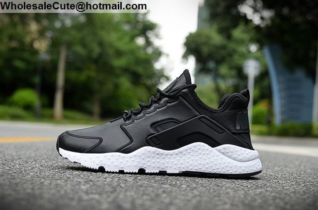 e5cc254937627 Mens   Womens Nike Air Huarache Run Ultra Leather Black White -13660 ...
