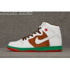 Mens & Womens Nike SB Dunk High Premium Cali Pecan White