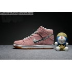 Girls Nike Dunk High SB Concepts When Pigs Fly Pink White Silver