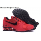 wholesale Nike Shox Avenue Red Black Mens Running Shoes