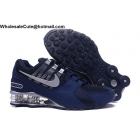Nike Shox Avenue Dark Blue Silver Mens Running Shoes