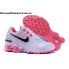 wholesale Womens Nike Shox Avenue White Pink Black Running Shoes