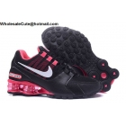 wholesale Womens Nike Shox Avenue Black Pink Running Shoes