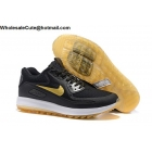 wholesale Mens Nike Air Max Zoom 90 IT Black Gold White Golf Shoes