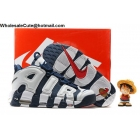 wholesale Mens Nike Air More Uptempo Olympic White Navy Blue