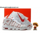 Mens Nike Air More Uptempo White Red Basketball Shoes