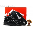 wholesale Mens Nike Air More Uptempo Black White Pippen Shoes