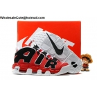 Mens Nike Air More Uptempo Hoop Red Black White