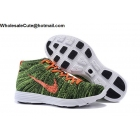 wholesale Mens Nike Lunar Flyknit Chukka HTM Green Orange White