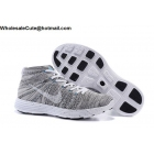 wholesale Mens Nike Lunar Flyknit Chukka HTM Light Grey White