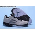 wholesale Air Jordan 5 Low Grey Black Silver Mens Basketball Shoes