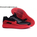 wholesale Mens Nike Air Max Zoom 90 IT Black Red Golf Shoes