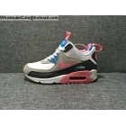 Womens Nike Air Max 90 MID White Grey Pink Sneakerboot