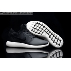 Mens & Womens Nike Roshe Run Leather Black White Running Shoes