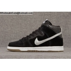 wholesale Mens & Womens Nike Dunk High Sb Prm Somp Nigel Sylvester Black Silver