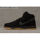 wholesale Mens Nike Dunk High Pro SB Black Gum