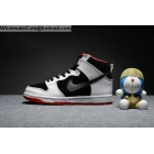 Womens Nike Dunk High Pro SB White Black Red