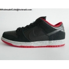 wholesale Mens & Womens Nike SB Dunk Low Black Red Cement
