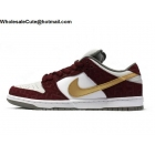 Mens & Womens Nike SB Dunk Low Pro Shanghai White Redwood Gold
