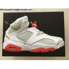 wholesale Mens & Womens Air Jordan 6 Hare White Red Pure Platinum