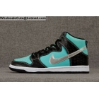 Mens & Womens Nike Dunk High Sb Prm Diamond Black Aqua