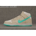 wholesale Mens & Womens Nike Dunk High Premium SB Grey Mint Green