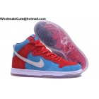 wholesale Mens & Womens Nike Dunk High Premium SB Bloody Gums Red Blue White
