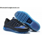 wholesale Mens & Womens Nike Air Max 2016 Leather Black Blue