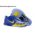 wholesale Nike Zoom Kobe V 5 Rings Blue Yellow Mens Basketball Shoes