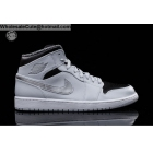 Mens & Womens Air Jordan 1 Mid Grey Silver