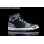 wholesale Mens Air Jordan 1 High Unsupreme Cement Elephant Print Black Grey
