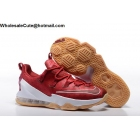 Mens Nike Lebron 13 Low Team Red White Gum