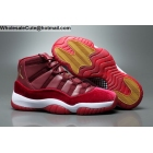 wholesale Mens & Womens Air Jordan 11 GG Heiress Red Velvet