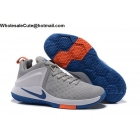 wholesale Mens Nike Lebron Zoom Air Witness Grey White Blue