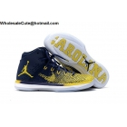 Mens Air Jordan XXXI 31 Michigan Home PE Navy Yellow