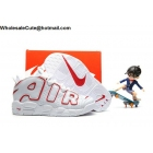 wholesale Kids Nike Air More Uptempo White Red Pippen Shoes