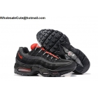 wholesale Mens Nike Air Max 95 Essential Black CHALLENGE Red