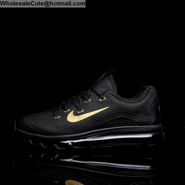 a79f01af2f Nike Air Max 2017 Black Gold Mens Running Shoes -14089 - Wholesale ...
