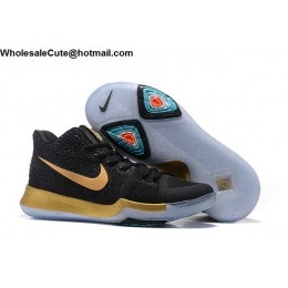 Nike Kyrie 3 Black Gold Mens Basketball Shoes