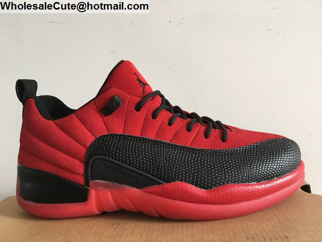 wholesale dealer 645e8 8113d Air Jordan 12 Low Red Suede Raging Bull Mens Basketball ...