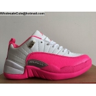 wholesale Womens Air Jordan 12 Low VALENTINE'S DAY White Pink