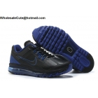 wholesale Nike Air Max 2013 Black Blue Mens Running Shoes