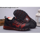 wholesale Nike Air Max 2009 Jacquard Black Red Mens Running Shoes