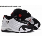 wholesale Womens Air Jordan 14 Retro White Black Red