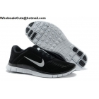 wholesale Mens & Womens Nike Free 4.0 Suede Black White Running Shoes