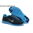 wholesale Nike Free 4.0 Suede Navy Blue Mens Running Shoes