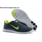 wholesale Nike Free 4.0 Suede Grey Green White Mens Running Shoes