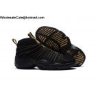 wholesale Nike Air Zoom Cabos Black Gold Mens Gary Payton Shoes
