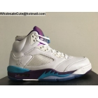 Mens & Womens Air Jordan 5 Retro White Purple Jade